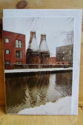 PHS Large Christmas Card: Bottle Ovens at Twyfords front